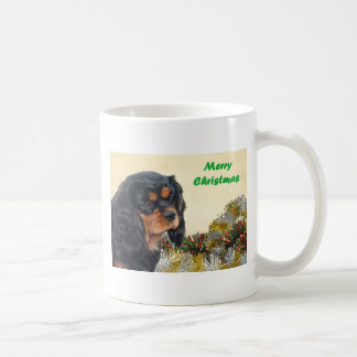 Black & Tan Christmas Cavalier Coffee Mug