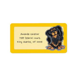 Black Tan CKCS Studio Sunshine Gold Personalized Address Label