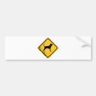 Black & Tan Coonhound Bumper Sticker