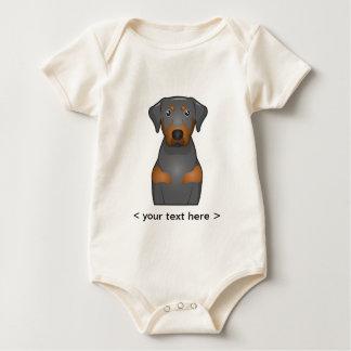 Black & Tan Coonhound Cartoon Personalized Baby Bodysuit