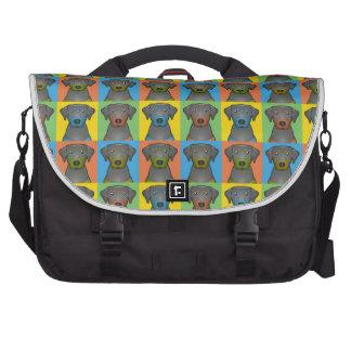 Black & Tan Coonhound Cartoon Pop-Art Commuter Bag