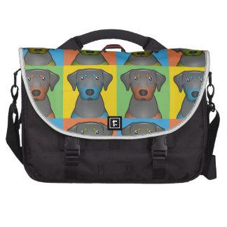 Black & Tan Coonhound Cartoon Pop-Art Bags For Laptop