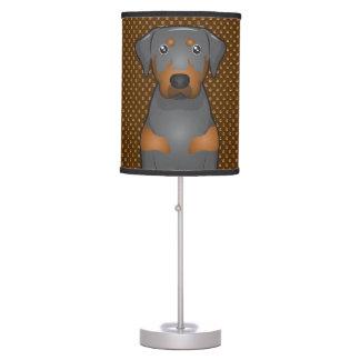 Black & Tan Coonhound Dog Cartoon Paws Desk Lamp