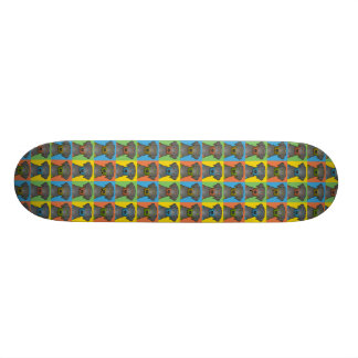 Black & Tan Coonhound Dog Cartoon Pop-Art Skateboard Decks