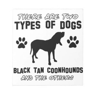 black tan coonhound gift items notepad