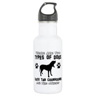 black tan coonhound items stainless steel water bottle