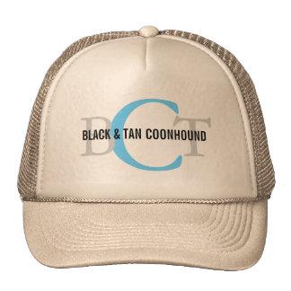 Black & Tan Coonhound Monogram Trucker Hat