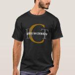 Black & Tan Coonhound Monogram T-Shirt