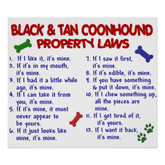 BLACK TAN COONHOUND PL2 PRINT