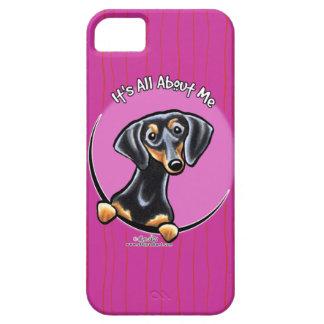 Black Tan Dachshund IAAM iPhone SE/5/5s Case