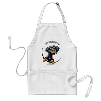 Black Tan Dachshund Its All About Me Adult Apron