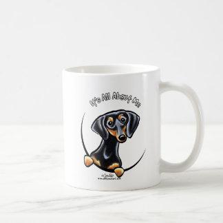 Black Tan Dachshund Its All About Me Classic White Coffee Mug