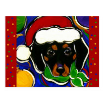 Black & Tan Dachshund Postcard
