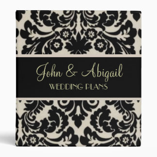 Black & Tan Damask Binder