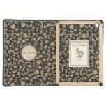 Black Tan Flowers Personalized Monogram iPad Air Cover