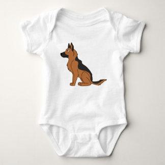 Black & Tan German Shepherd Baby Bodysuit