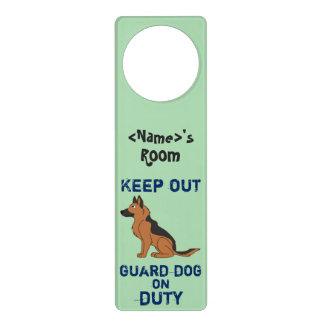 Black & Tan German Shepherd Guard Dog on Duty Door Hangers