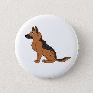 Black & Tan German Shepherd Pinback Button