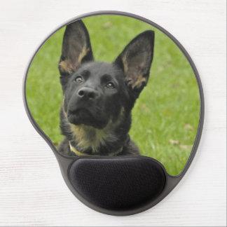 Black & Tan GSD Pup Gel Mouse Pad