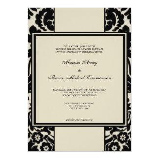 Black & Tan Personalized Invitation