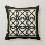 Black Tan Motif Graphic Design IX Throw Pillow