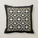 Black Tan Motif Graphic Design VIII Throw Pillow
