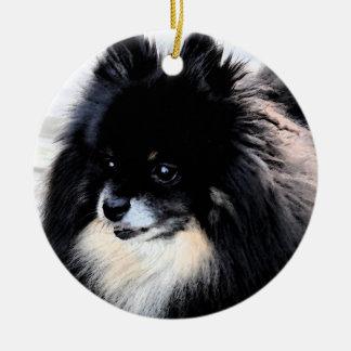 Black & Tan Pomeranian Ornament