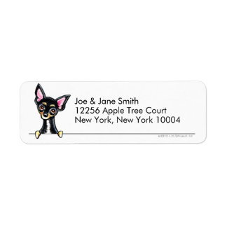 Black Tan Smooth Chihuahua Clean & Simple Label