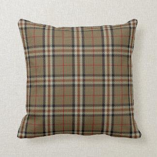 Black/Tan Tartan Pillow