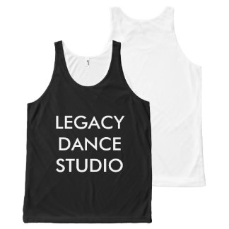 BLACK TANK TOP - Legacy Dance Studio
