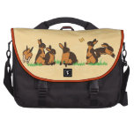 BLACK TANS IN THE GRASS LAPTOP BAG