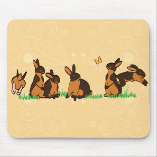 BLACK TANS IN THE GRASS MOUSE PAD