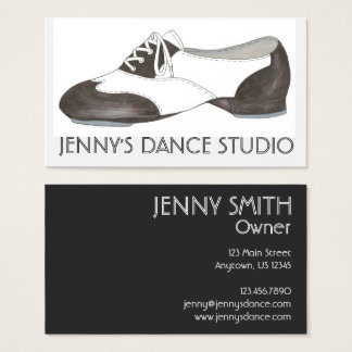 Black Tap Shoe Dance Teacher Studio Business Cards