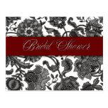 Black Tapestry - Bridal Shower Post Cards