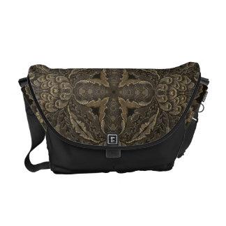 Black Tapestry Messenger Bag