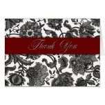 Black Tapestry - Thank You Greeting Card