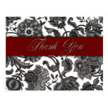 Black Tapestry - Thank You Post Cards