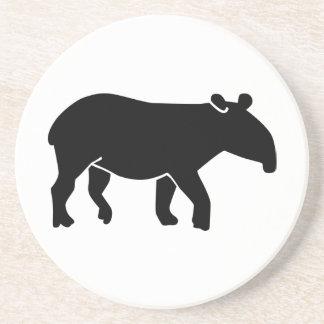 Black tapir drink coaster