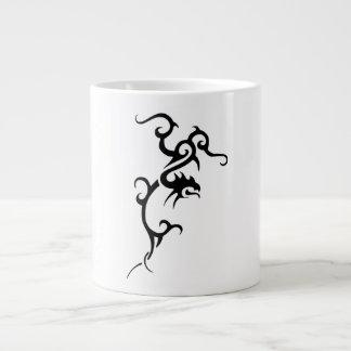 Black Tattoo Dragon Design Giant Coffee Mug