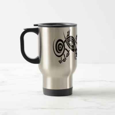 Black Tattoo Tribal 2 Coffee