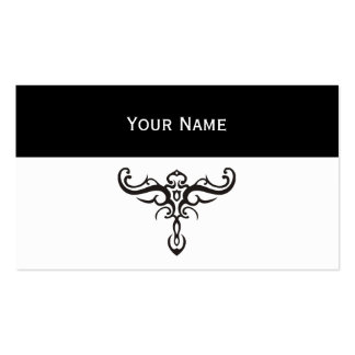 BLACK TATTOO TRIBAL III + your idea Double-Sided Standard Business Cards (Pack Of 100)