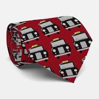 Black Taxi Design Neck Tie