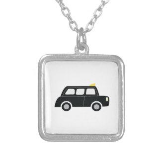 Black Taxi Square Pendant Necklace