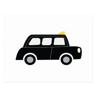 Black Taxi Postcard
