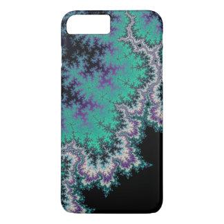 Black, Teal and Purple Fractal iPhone 7 Plus Case