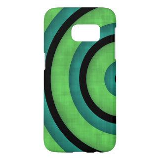 Black teal green curve samsung galaxy s7 case