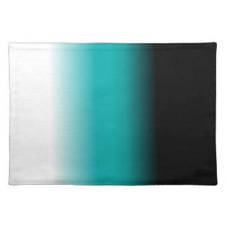Black Teal White Ombre Cloth Placemat
