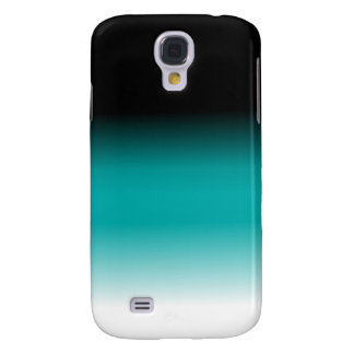 Black Teal White Ombre Galaxy S4 Cover