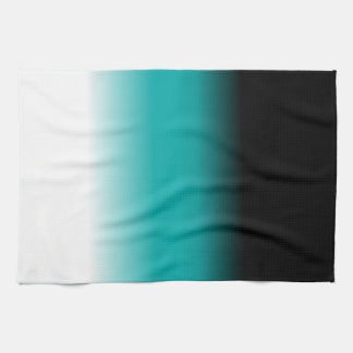 Black Teal White Ombre Kitchen Towels
