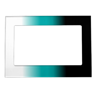 Black Teal White Ombre Magnetic Photo Frame